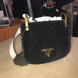 1b29c9afe4f9 Prada Bags   Pionnire Velvet Saddle Bag   Poshmark